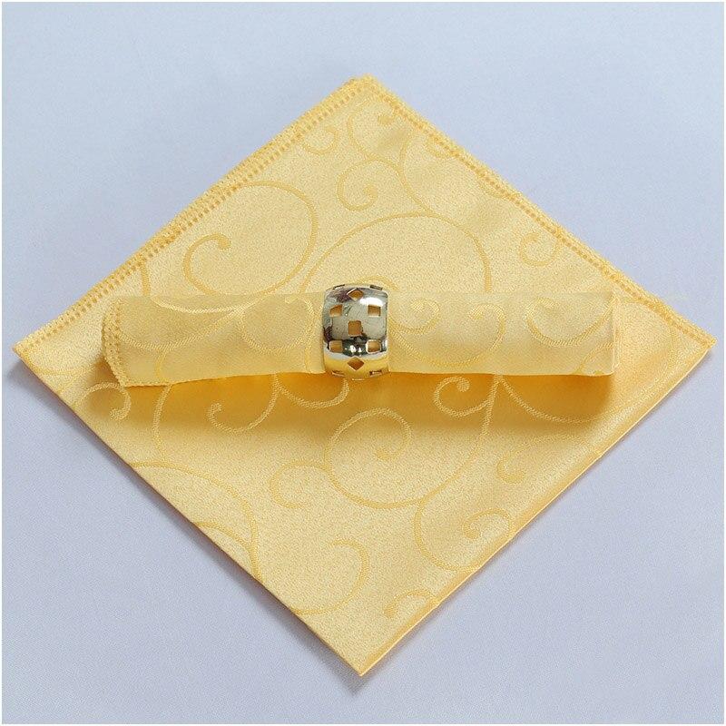 Модные столовые салфетки льняной носовой платок из полиэстера вечерние