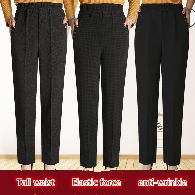 Модные женские длинные штаны высокого качества; Одежда с высокой талией для мамы; Зимние брюки; Повседневные леггинсы; Брюки с эластичной ре...