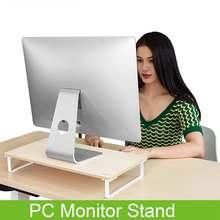 80/135mm ordinateur moniteur support bois ordinateur de bureau écran Riser clavier stockage support dordinateur portable support de bureau