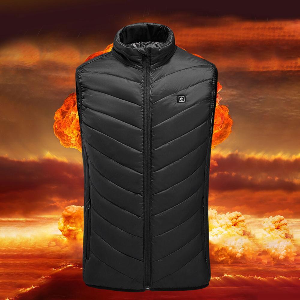 Chaqueta térmica, chaleco Usb para hombre, chaqueta sin mangas eléctrica calentada para invierno, chaleco de viaje al aire libre, senderismo