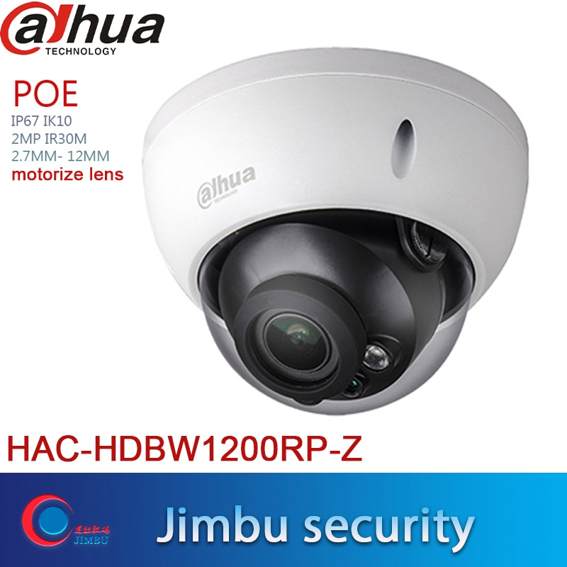 DAHUA Dome HDCVI 2-мегапиксельная HAC-HDBW1200R-Z камера 2,7-12 мм камера видеонаблюдения IP67 IR30m Max 30fps @ 1080P система видеонаблюдения