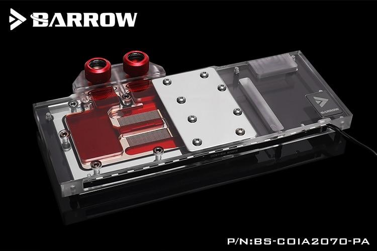 بارو BS-COIA2070-PA ، LRC 2.0 غطاء كامل بطاقة الرسومات مياه التبريد كتل ل الملونة iGame RTX2070 المتقدمة/إعلان Speical OC