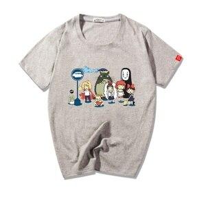 Unisex Anime Miyazaki Hayao Tonari no Totoro Cotton T-Shirt Spirited Away Totoro Casual breathable t-shirt t shirt tees