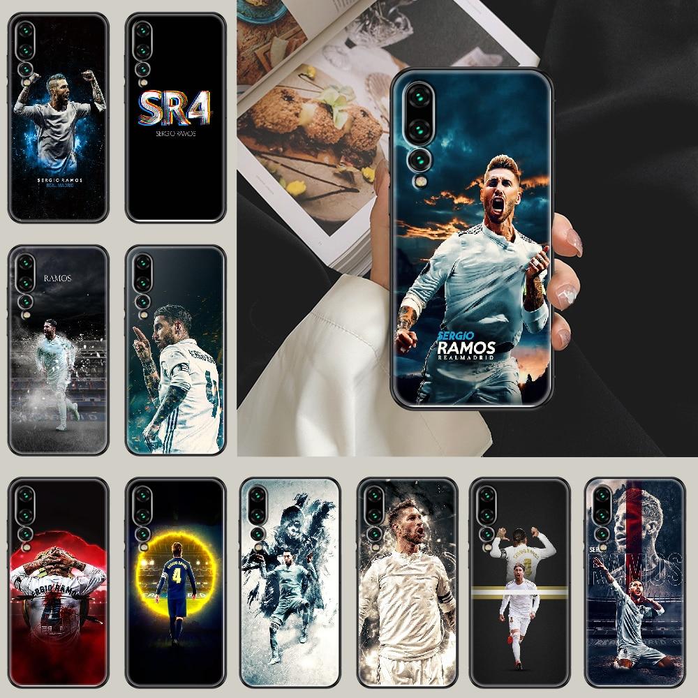 Sergio Ramos Phone case For Huawei P Mate P10 P20 P30 P40 10 20 Smart Z Pro Lite 2019 black 3D bumpe