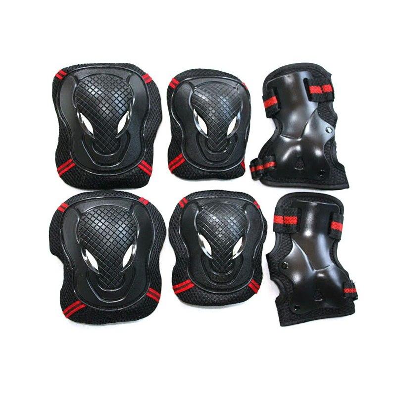 6 pçs/set ciclismo patinação almofadas de engrenagem proteção joelho cotovelo protetores pulso esporte ao ar livre para adultos crianças das mulheres dos homens