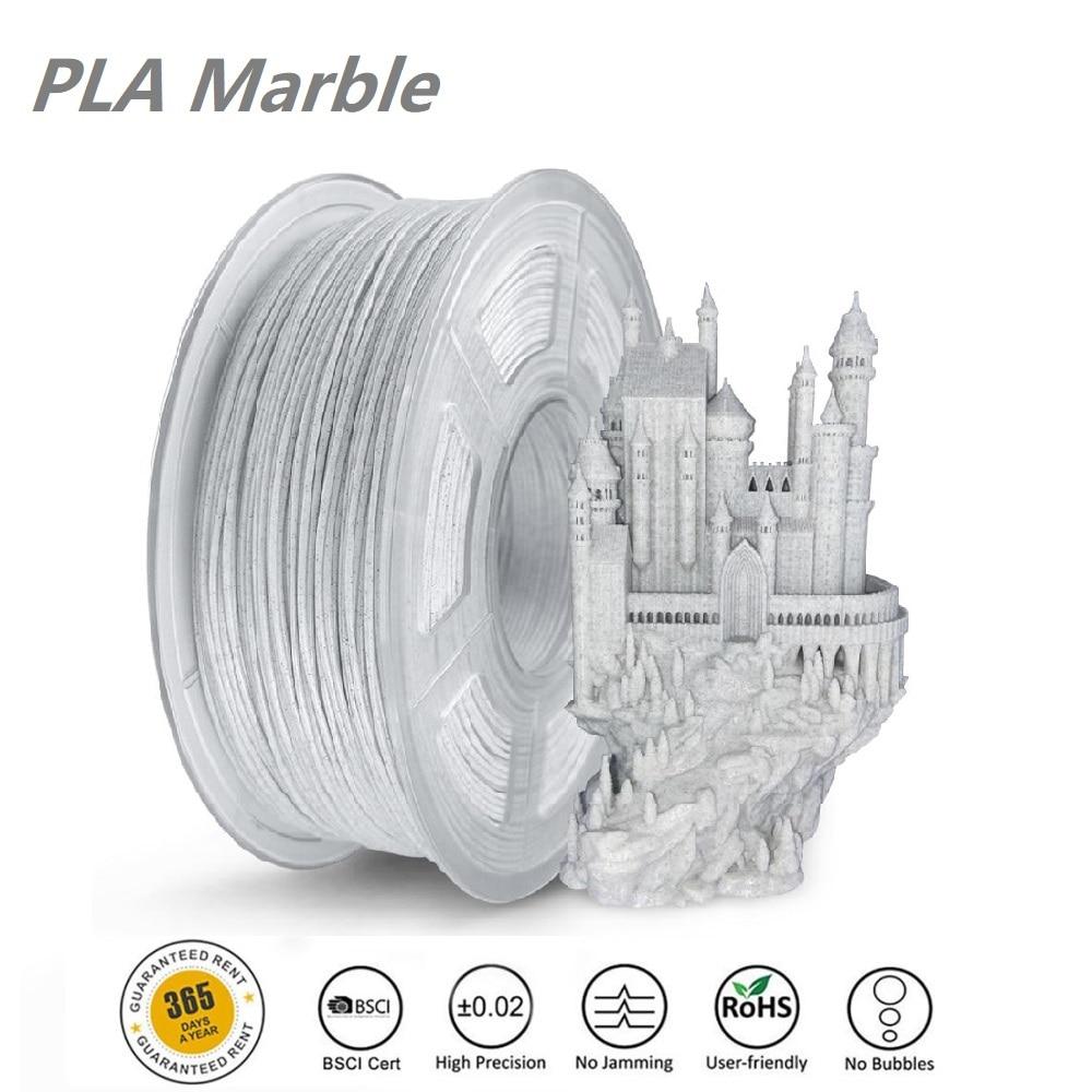 SUNLU طابعة ثلاثية الأبعاد خيوط الرخام PLA 1 كجم 1.75 مللي متر طابعات ثلاثية الأبعاد مواد الرخام الملمس خيوط قابلة للتحلل مواد الطباعة