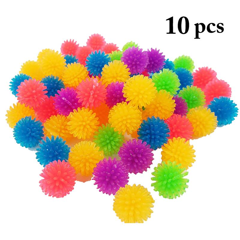 10PCS Pet Cat Play Ball Soft Spiky Kitten Toy Handmade Exercise For Interactive Supplies