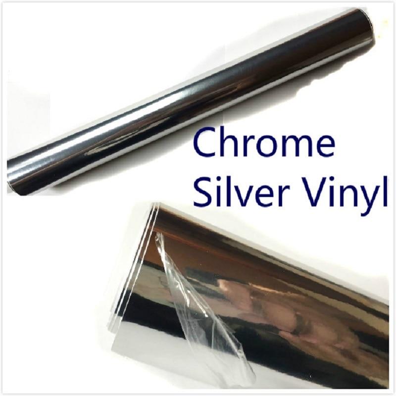 Car vinyl chrome film 100mmx1520mm silver film mobile phone film bicycle film furniture dustproof film