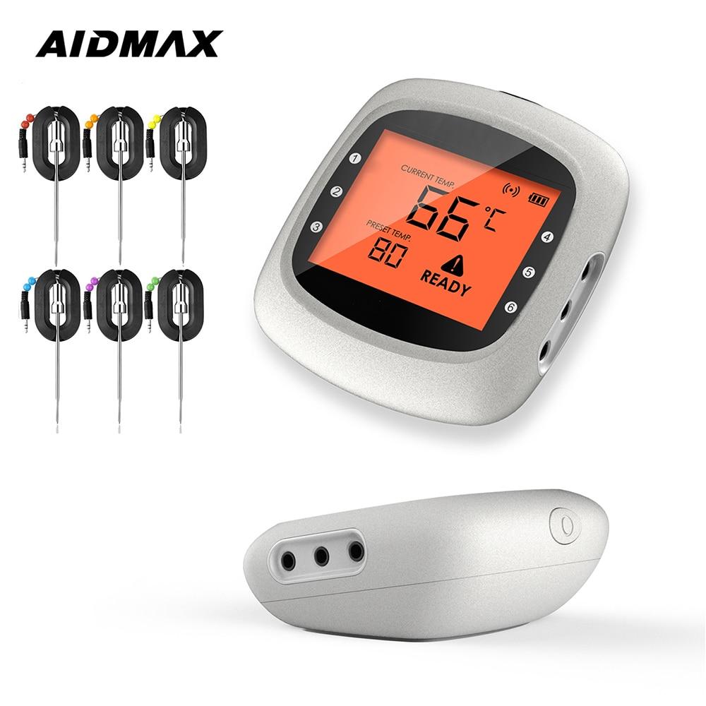AidMax-ميزان حرارة رقمي للشواء والطبخ ، جهاز شواء منزلي PRO05 ، لقياس درجة حرارة اللحوم ، اتصال بالبلوتوث ، للحفلات ، فرن التدخين