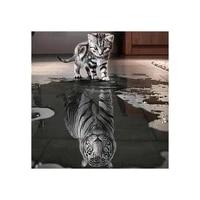 Peinture diamant theme chat  broderie 5D a bricolage-meme  image de tigre en point de croix  artisanat europeen  decoration dinterieur