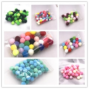 8mm-20mm Gradient Mix Color Combination High Stretch Ball Plush DIY Party Handmade Children Toys Sewing Clothes Accessories