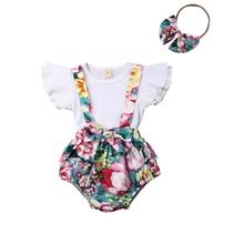 Vêtements assortis pour petite sœur   Ensemble de 2 pièces, pour la petite fille, haut et short, robe à fleurs, tenue dété, pour enfants filles, 2020