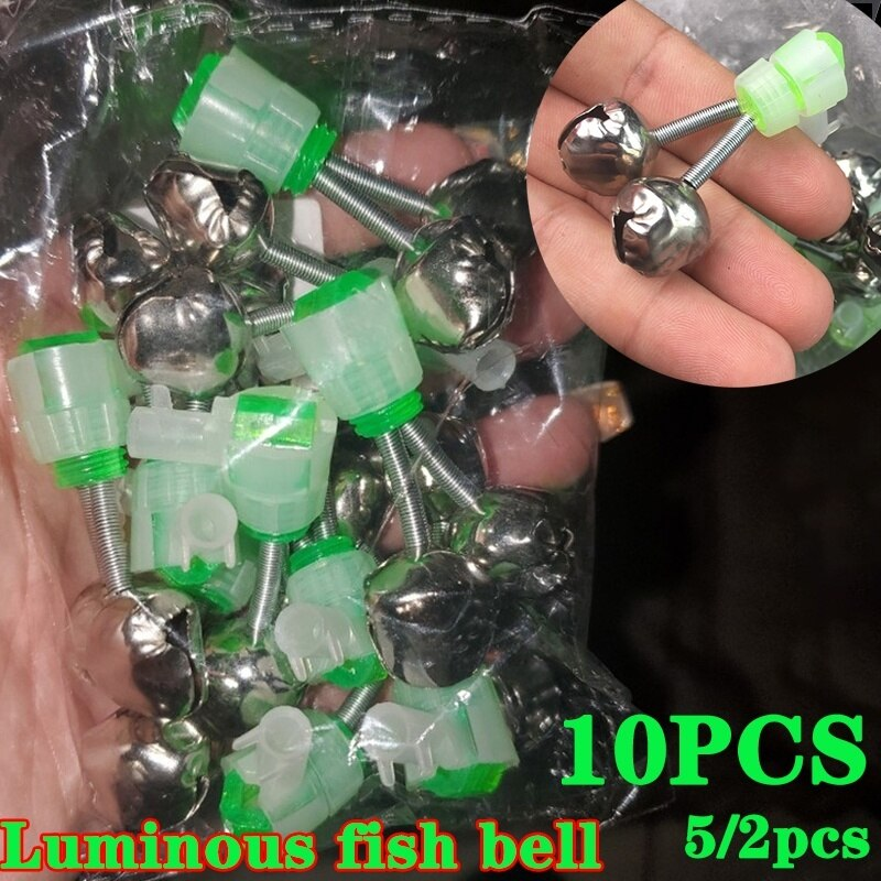 2/5/10PCS Luminous Fisch Glocken Angeln Alarm für Meer Angeln