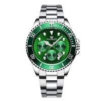 sinobi 2021 new fashion green water ghost womens watch top brand luxury stainless steel strap waterproof wristwatch reloj mujer
