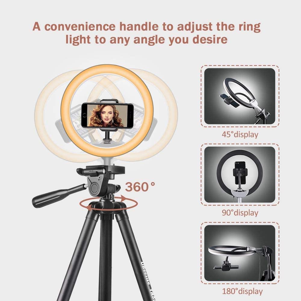 10% 22 селфи кольцо свет с 50% 22 выдвижной штатив подставка +% 26 гибкий телефон держатель для Live Stream% 2FMakeup% 2C UBeesize Mini Desktop