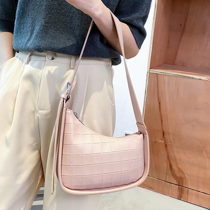 Fashion Women's Bag 2021 New Female Single-Shoulder Handbag Lattice Pattern Design Woman Crossbody B