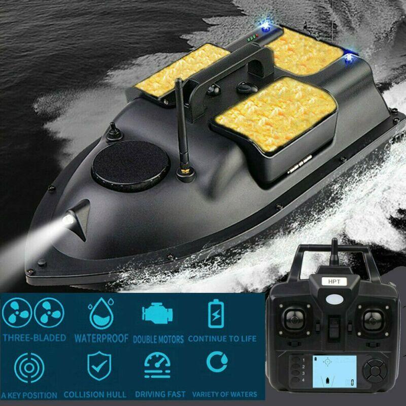 500M Wireless GPS Bait Boat Carp Hook Post Toy Remote Control Speedboat,LCD GPS Fishfinder,Carry Bag,Spare Batteries enlarge