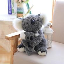 For Dropshipper 21-28cm Australia Animal Koala Stuffed Koala Bear Soft Mom Hold High Quality Plush Doll Kid Toy Xmas Gift