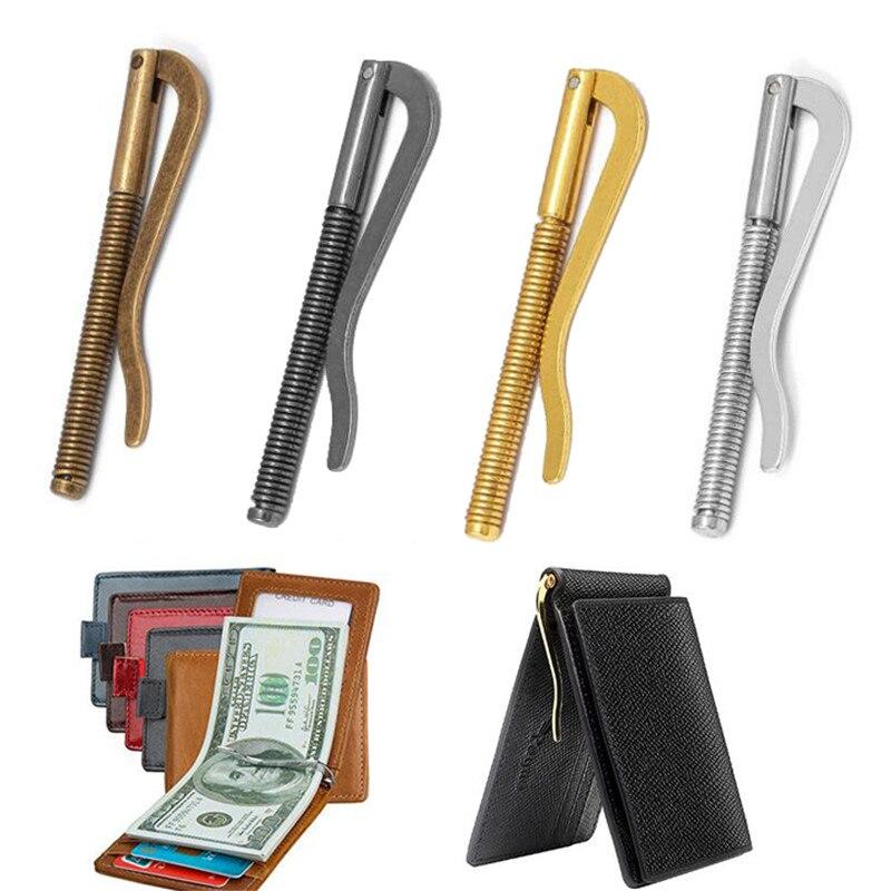 Billetera de Metal plegable con Clip para dinero, piezas de repuesto, abrazadera...