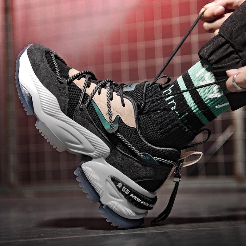 Кроссовки мужские дышащие, спортивная обувь для легкой атлетики, тенниса, бега на платформе
