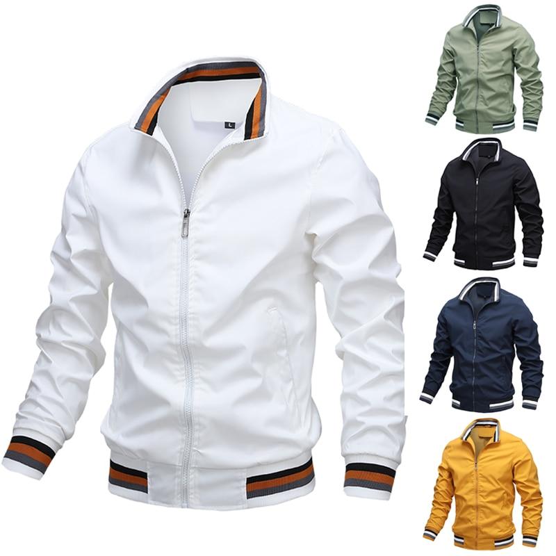 Мужские Брендовые куртки, новинка 2021, мужские модные куртки и пальто Sprint, повседневная приталенная ветровка, мужские куртки-бомберы, улична...