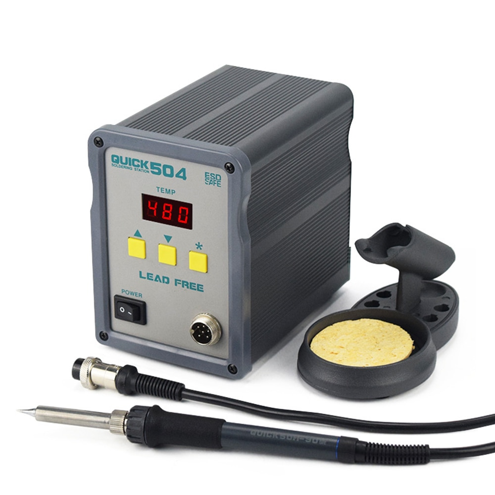 Electric Soldering Iron Mobile Phone Maintenance Constant Temperature Lead-free Welding Station 90W High-power QUICK 504 adjustable temperature welding station quick ts1100 90w electric soldering iron lcd digital display lead free station
