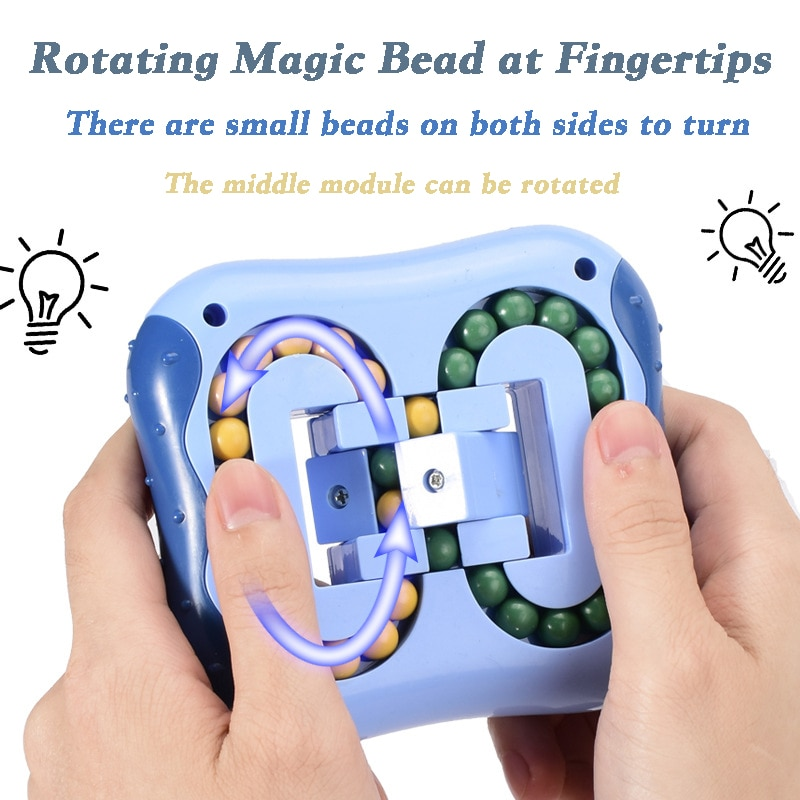 Spinning Magic Beans Antistress Cube Toys Anxiety Fidget Anti-stress Box Autism Hand Figet Toy Simple Dimple for Children Ball enlarge