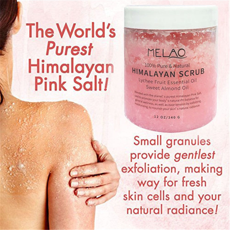 2020 NewestMELAO Himalayan Bath Salt Firming Body Massage Exfoliating Scrub Moisturizing Repair Skin 340G Deep Cleansing недорого