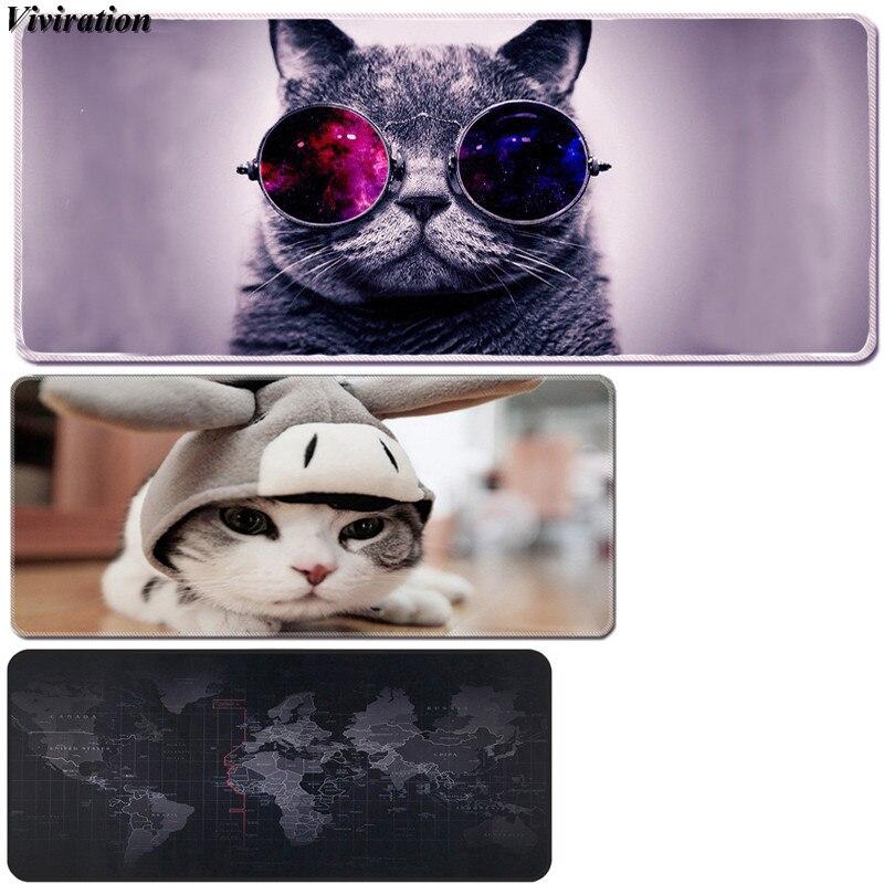 Gran oferta ordenador portátil de portátil para Gaming Mouse Pad estampado de gato teclado de ratón Almohadilla para la Liga de Leyendas Dota jugador Mausepad Mat
