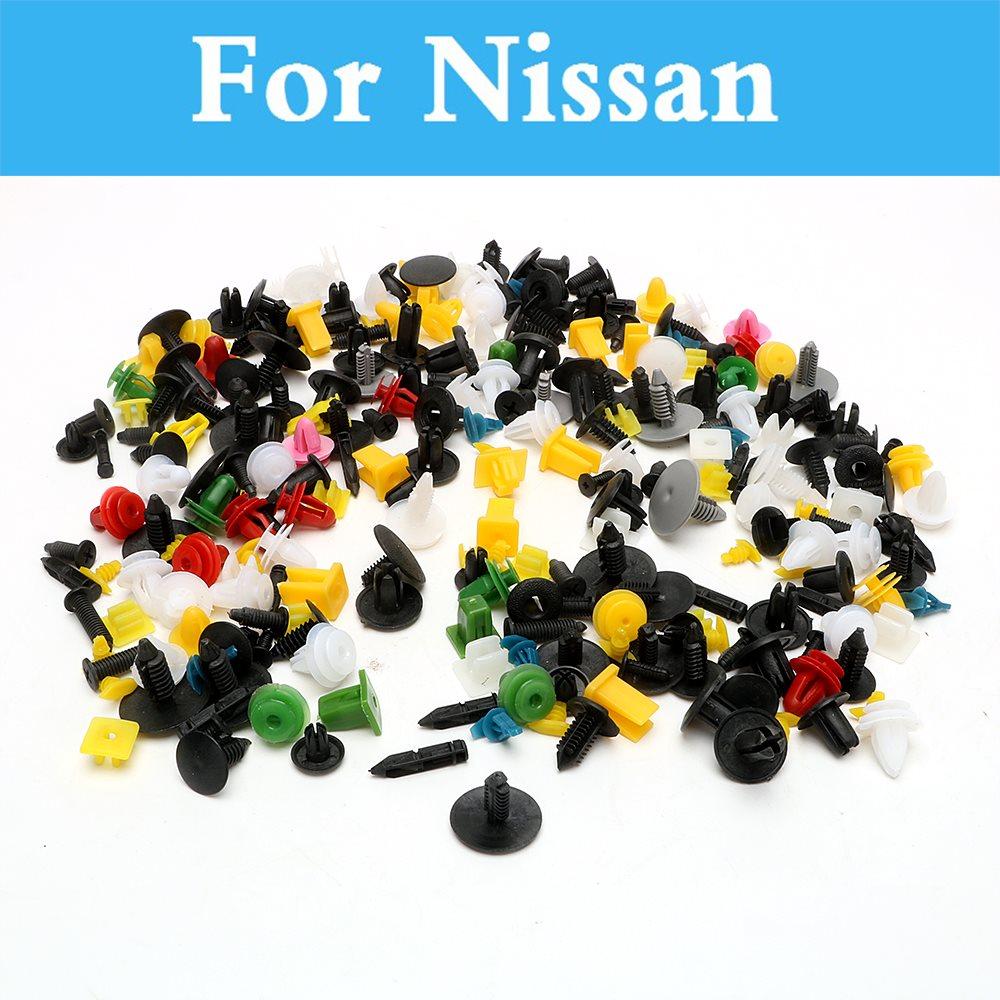 Clip de abrazadera de montaje de Cable de plástico para coche de 200 piezas con lazo de alambre automático para Nissan silphy cedcric Cima Crew Dualis Expegloria Gt -R Juke Bluebird