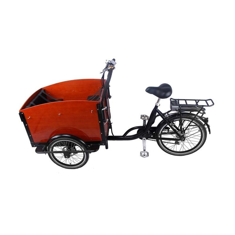 دواسة الكهربائية البضائع الدراجة 3 عجلات الهولندية الكبار دراجة ثلاثية العجلات الأسرة دراجة الشارع الاطفال سكوتر للبيع للتخصيص