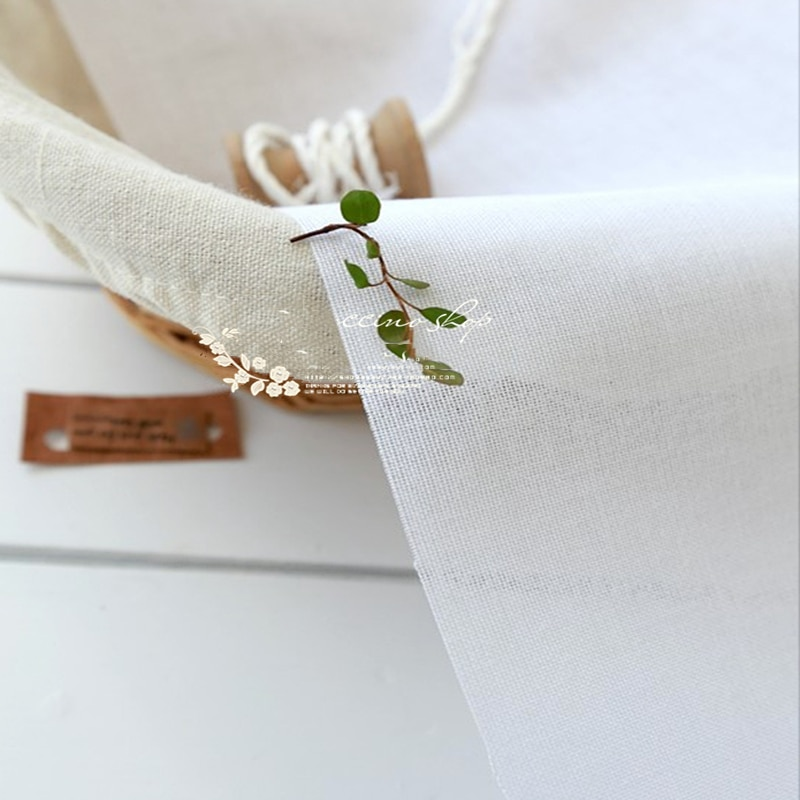 DIY Hats Bags Single Face Glue Woven Hardest Stiffness Interfacing Cloth-lined Interlining Fabric White