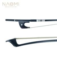 naomi german style 44 double bass bow carbon fiber bow round stick ebony frog paris eye inlay durable use