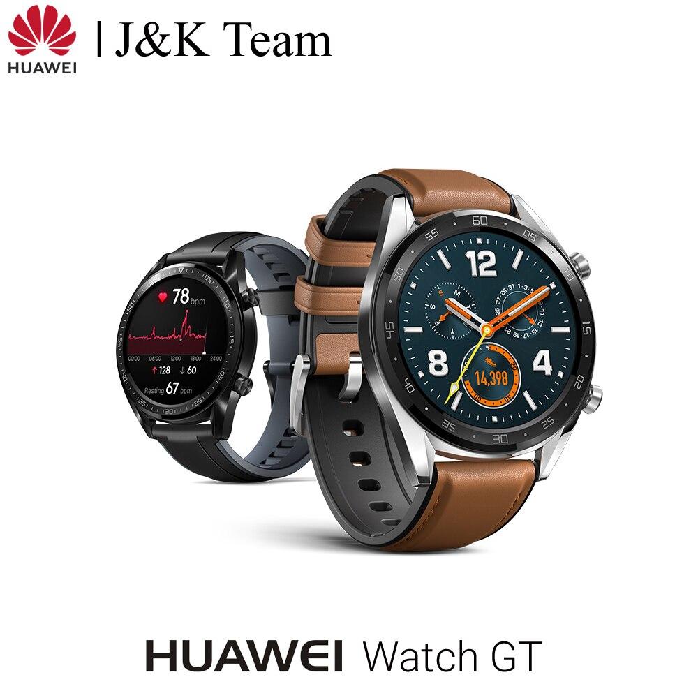 Huawei Watch GT relógio inteligente suporte gps 14 dias vida útil da bateria 5 atm à prova de água chamada telefone rastreador freqüência cardíaca para android ios