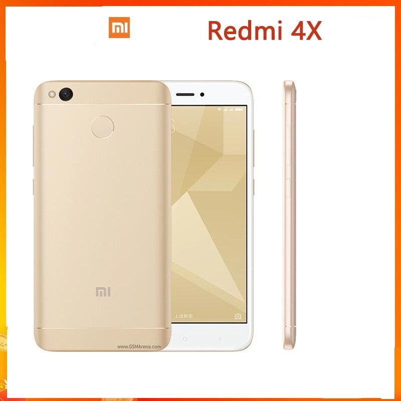 Смартфон Xiaomi Redmi 4X Googleplay, экран 5 дюймов, 4000 мАч, HD-экран, Snapdragon 435, задняя камера 13 МП
