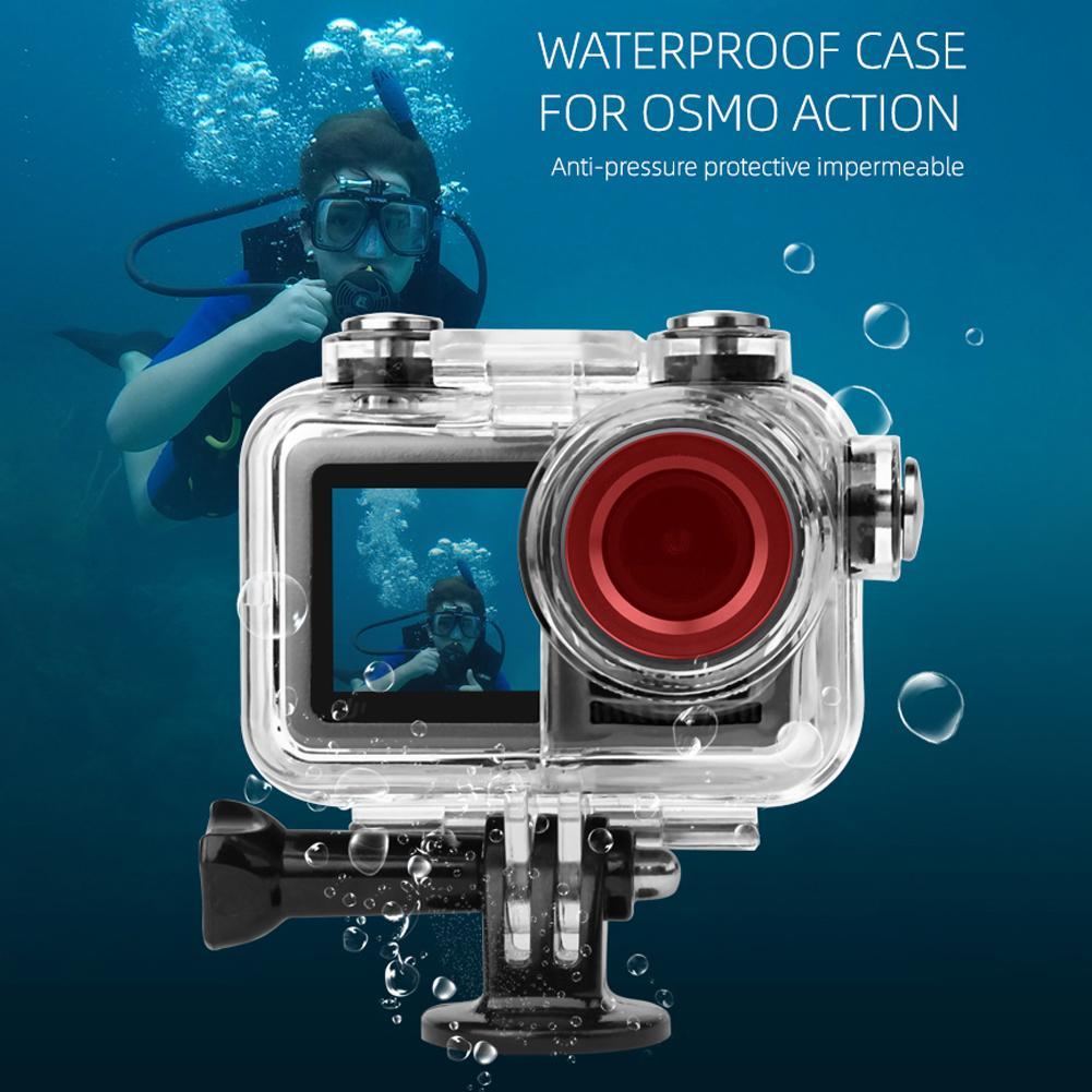 Proteção à Prova Água da Proteção da Pressão da Capa do Quadro Caixa de Escudo de Proteção Durável para Dji Dwaterproof Impermeável Subaquática Osmo Action Cam