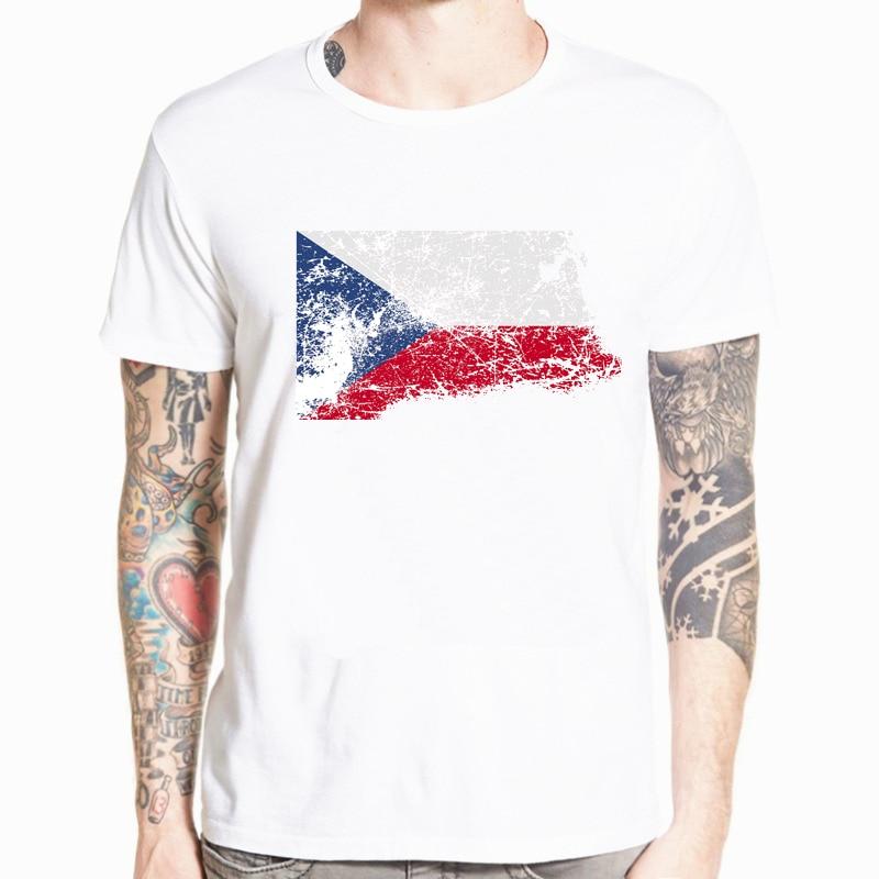 Camisetas de manga corta con bandera nacional de República Checa para hombre, camisetas de manga corta con cuello redondo para fanáticos de los Juegos de Verano para hombre, talla XS- 5XL