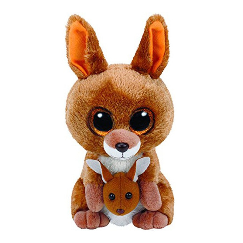 New 6 15cm TY Kipper the Kangaroo Plush Stuffed Animal Collectible Soft Big Eyes Doll Toy Christmas Gift inkpen mick kipper s christmas eve
