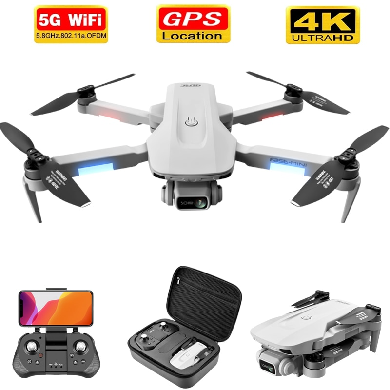 F8 2021 New GPS Drone 4k/6k HD Camera profession WiFi fpv Drone Brushless Motor Gray Foldable Quadcopter RC Dron Toys