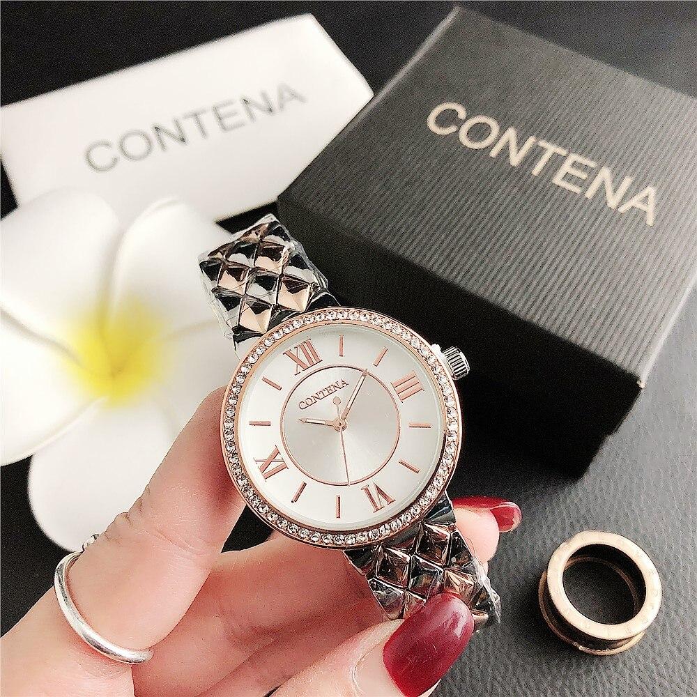 Часы наручные женские кварцевые, люксовые модные, с браслетом