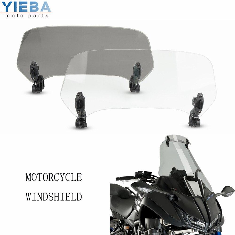 Accesorios de motocicleta parabrisas ajustable elevado Deflector de aire extendido para DUCATI 1199 Superleggera 848 1098 1299