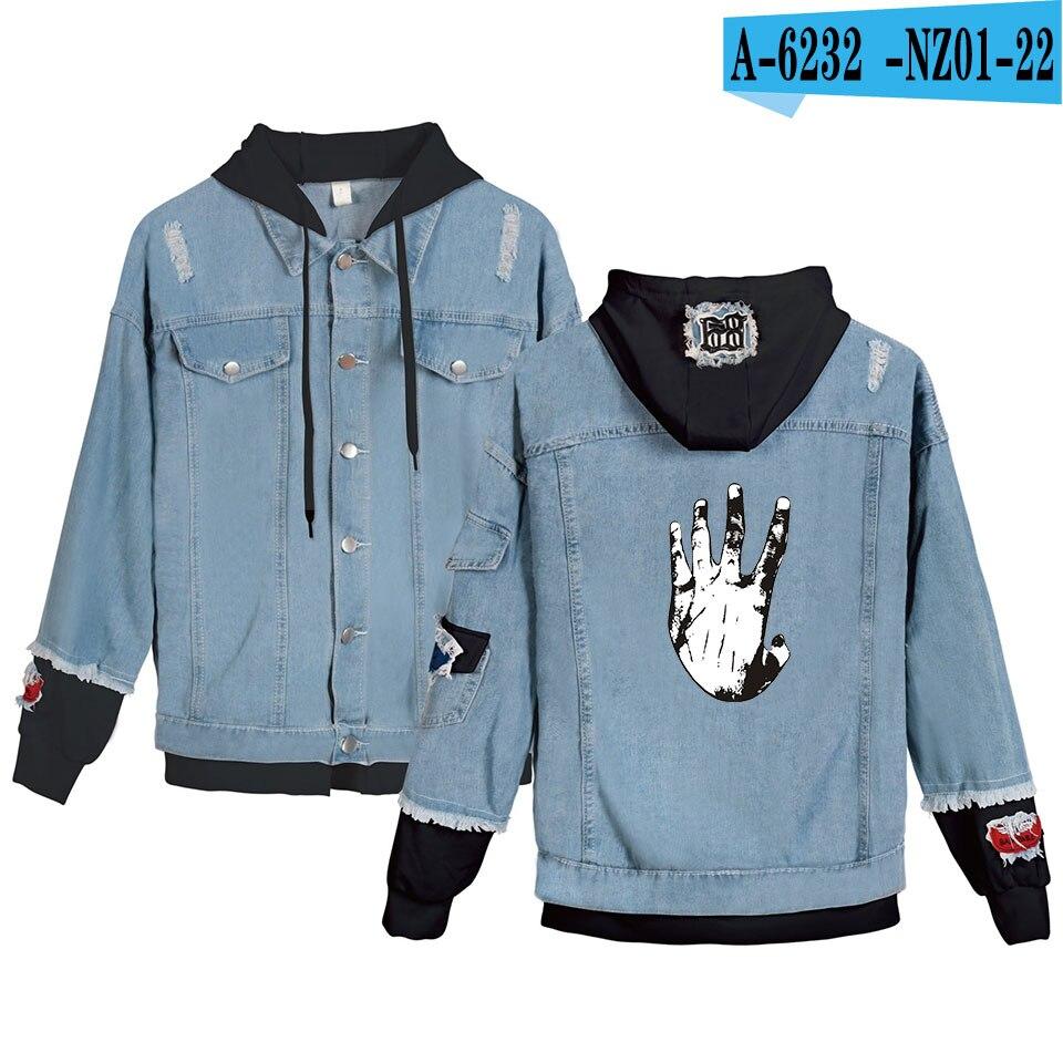 Design de mode Mix-up Xxxtentacion revanche veste en jean à capuche hommes/sweat à capuche pour femme automne sweat ptit Peep Cry bébé décontracté imprimé