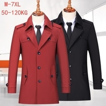2021 Spring New Men's Korean Style Plus Size Windbreaker Classic Fashion Business Casual Mid-length