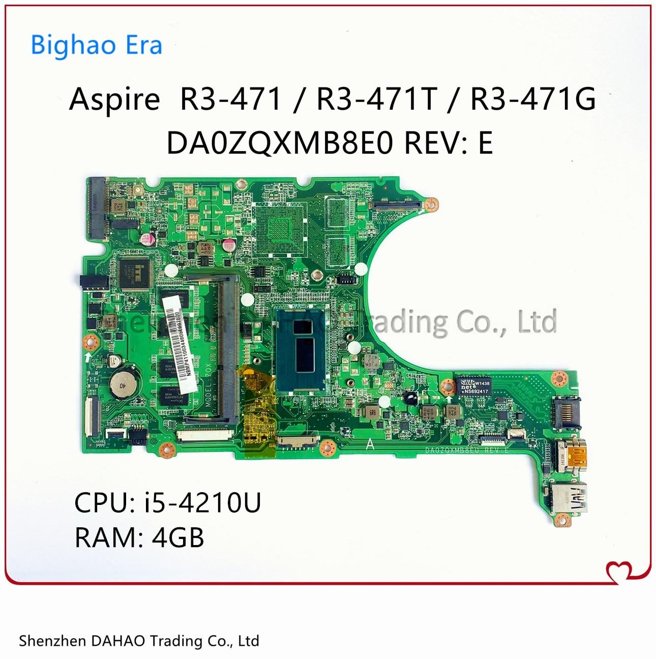 لشركة أيسر أسباير R3-471 R3-471T R3-471G اللوحة المحمول مع i5-4210U 4G-RAM NBMP411003 ملحوظة. MP411.003 DA0ZQXMB8E0 اللوحة