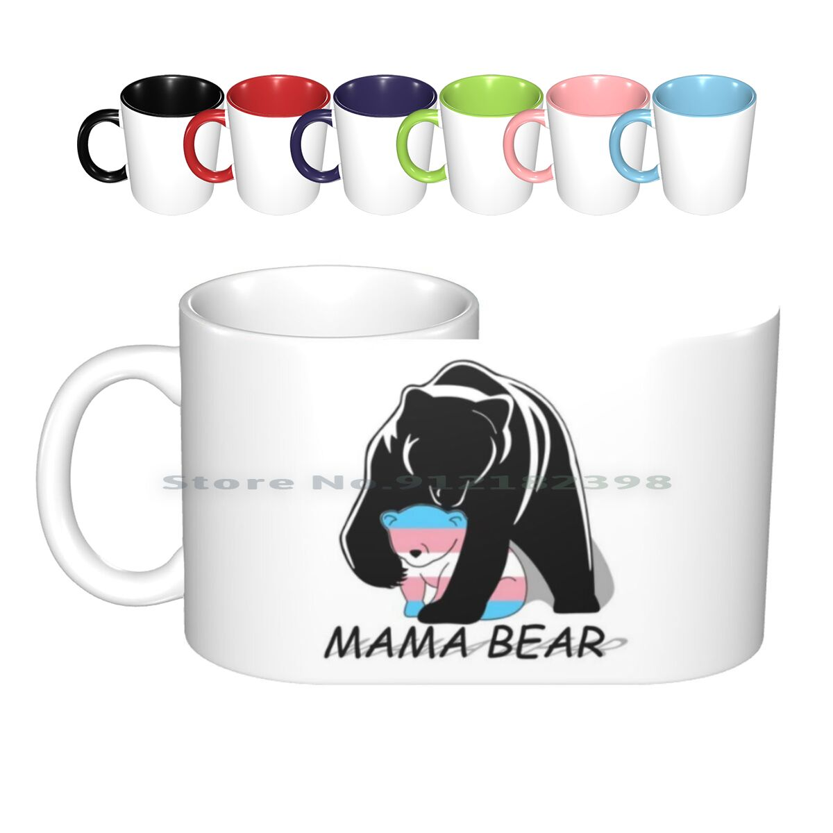 Pride Mama Bear Ceramic Mugs Coffee Cups Milk Tea Mug Pride Mama Bear Lgbt Pride Creative Trending Vintage Gift Bottle Cup