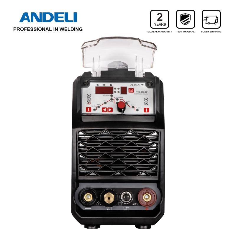 ANDELI TIG-250GP 220V Smart Portable Single Phase DC Inverter Pulse Tig Welding Spot Welding MMA Welding Machine Tig Welder