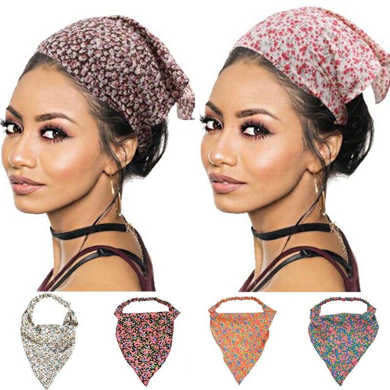 Bohemia Women Bandana Hair Band Scarf Print Paisley Bandanas Headwear Wrist Head Wrap Hair Scarf Headwear Hair Accessories Gifts