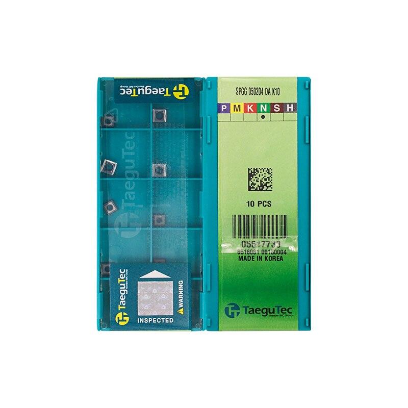 SPGG050204-DA الأصلي K10 كربيد إدراج طحن إدراج مخرطة أدوات الكمبيوتر لتحويل إدراج