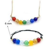 Boho Necklace Bracelet Jewellery Set 7 Colors Natural Stone Beads Handmade Necklace Bracelets for Wo