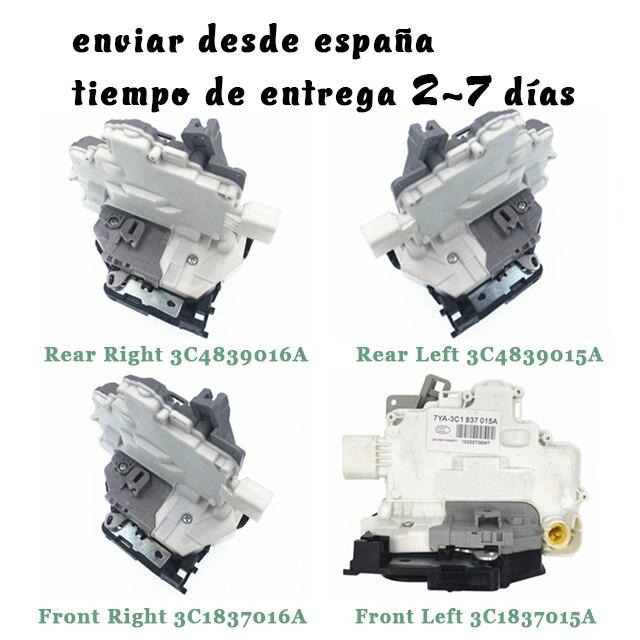 Trasero izquierdo delantero derecho cerradura de la puerta del actuador para VW PASSAT B6 SKODA SUPERB para A4 A5 Q5 3C1837015A 3C1837016A 3C4839015A 3C4839016A
